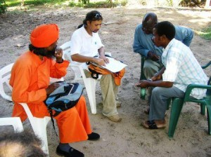 Meeting with Village Chief and Secretary at Donated Land