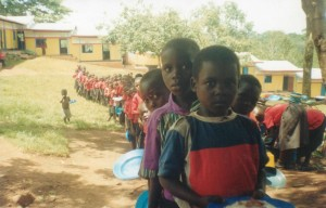 Lunch time at Ananda Marga Primary School in Wasswa village